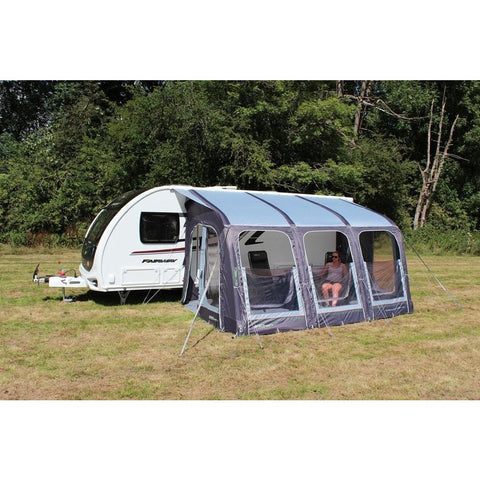 Image of Outdoor Revolution E-Sport Air 400 Inflatable Caravan Awning + Groundsheet (2019) made by Outdoor Revolution. A Air Awning sold by Quality Caravan Awnings