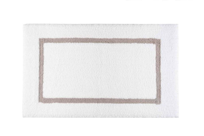 Graccioza Bathroom Mats 20x31 / Stone Double Tone | Bath Mats & Rugs