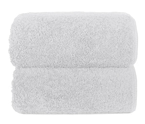 Graccioza Bathroom Towels Glove / White HERITAGE LONG DOUBLE LOOP TOWEL IN WHITE
