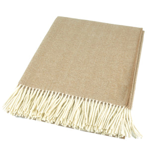 Mapacha Throws & Blankets Camel | Merino Wool