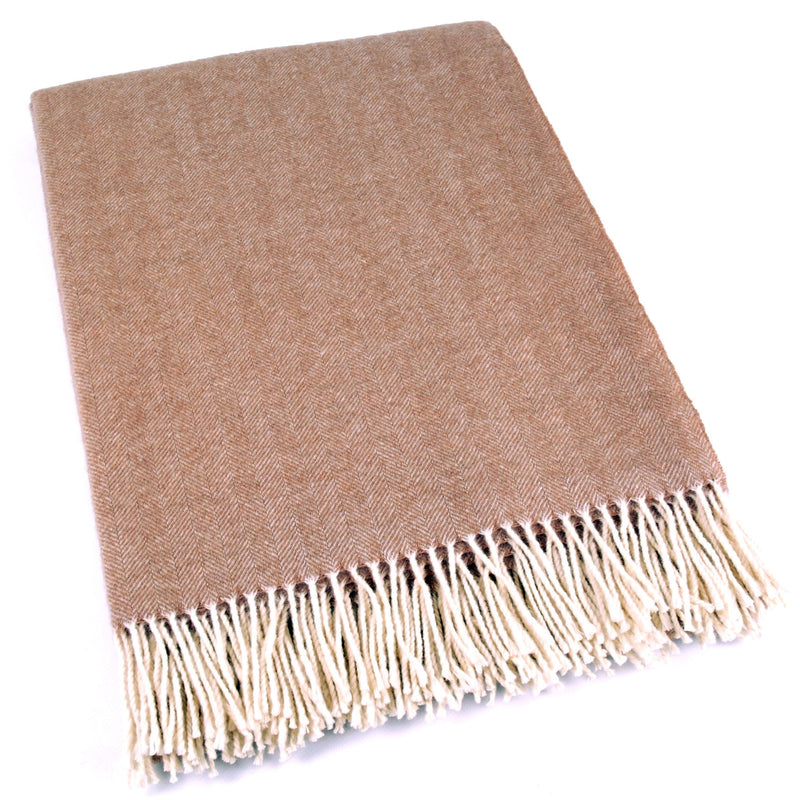 Mapacha Throws & Blankets Marron Glace | Merino Wool