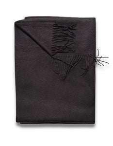 Sofia Cashmere Throws & Blankets Black | Trentino Cashmere Throw