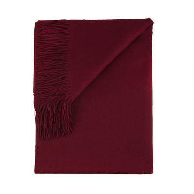Sofia Cashmere Throws & Blankets Burgundy | Trentino Cashmere Throw