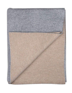Sofia Cashmere Throws & Blankets Grey Paris Cashmere Throw