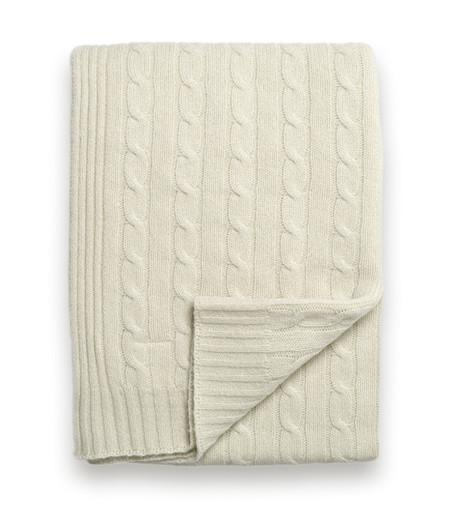 Sofia Cashmere Throws & Blankets Ivory Brescia Cashmere Throws