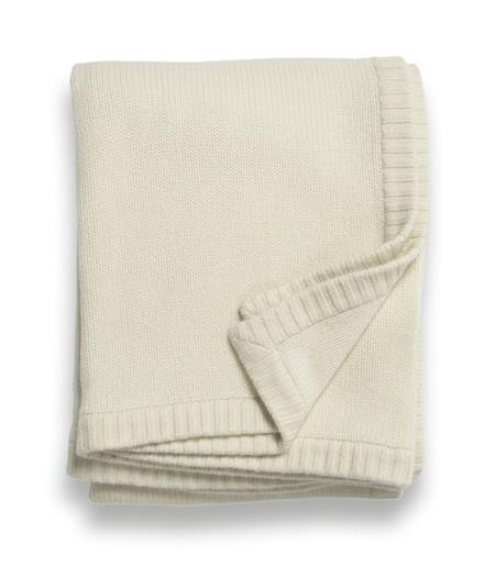 Sofia Cashmere Throws & Blankets Ivory Classico Cashmere Throws