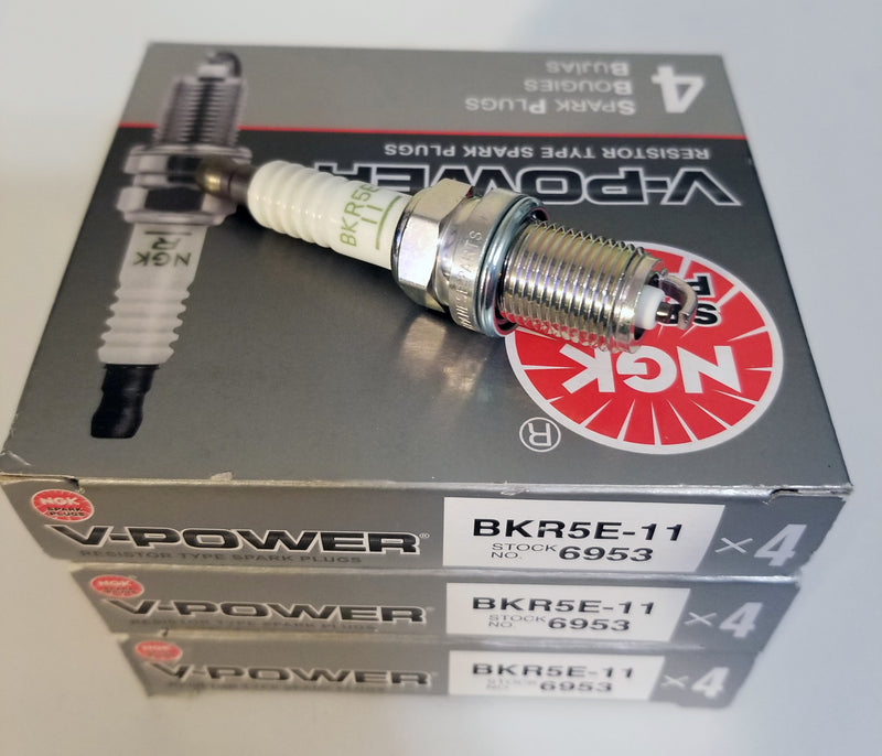 12 NGK Spark Plugs BKR5E-11 6953 V-Power