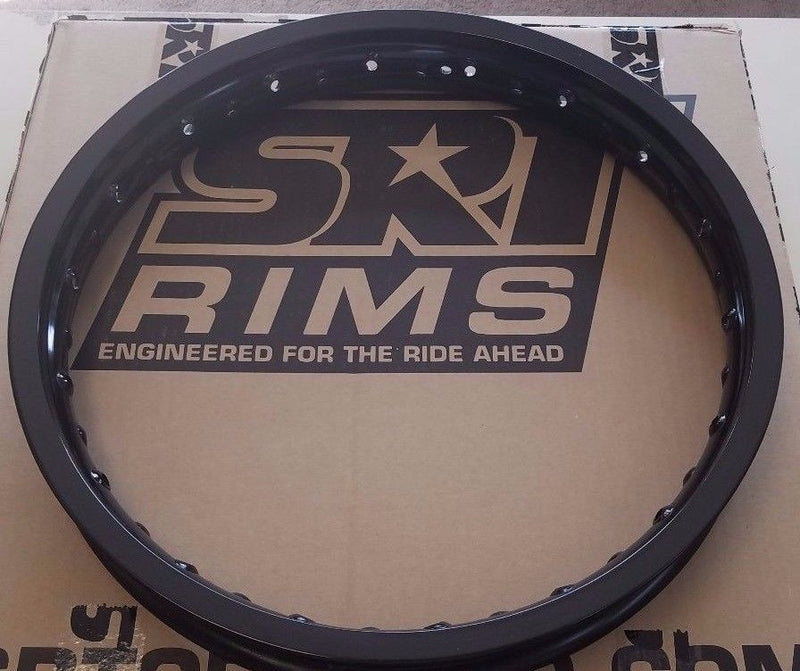 SRT REPLACEMENT REAR RIM 18X2.15 MOTOCROSS RIM BLACK