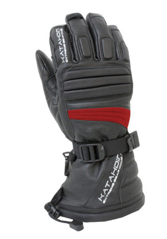 Katahdin Gear Torque Leather Snowmobile Glove (Red)