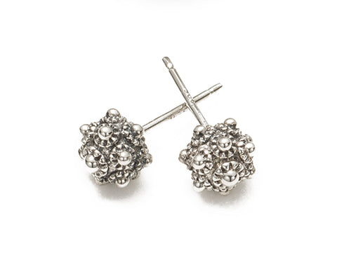 Stupa Studs - earring - KIR Collection - designer sterling silver jewelry