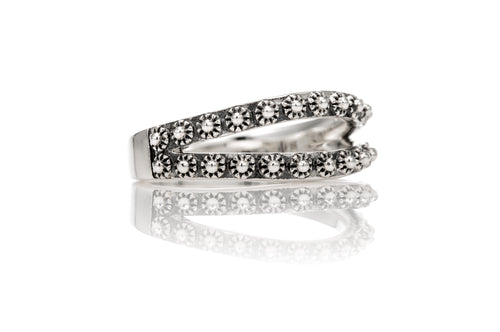 Stupa Split Ring - ring - KIR Collection - designer sterling silver jewelry