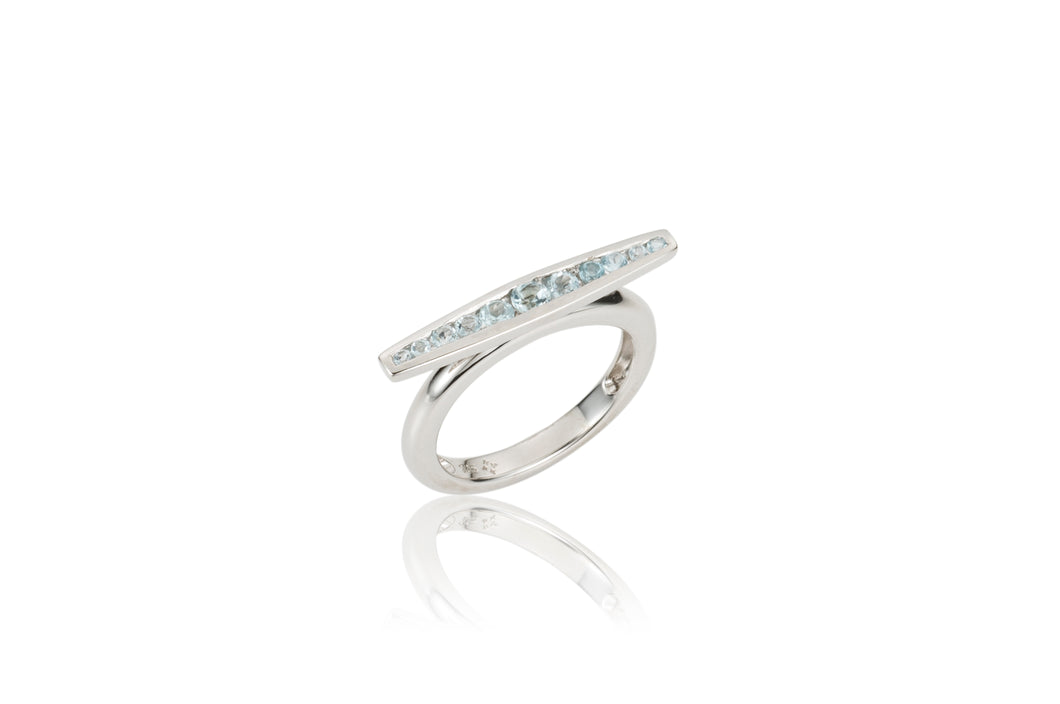 Channel Horizontal Ring - ring - KIR Collection - designer sterling silver jewelry
