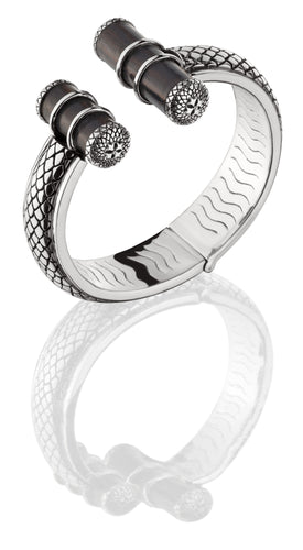 Asmara Pipes Cuff - bracelet - KIR Collection - designer sterling silver jewelry