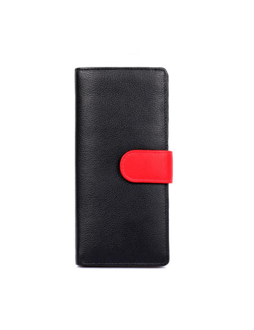 Women's RFID Leather Wallet with Tab Large