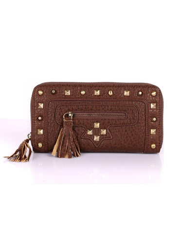 Rodeo Women's Continental Wallet with Studs & Tassel