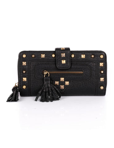 Rodeo Women's 2-face Wallet with Studs & Tassel