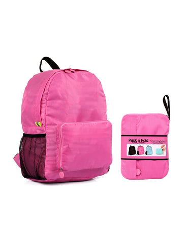Pack n Fold Foldable Travel Backpack Pink
