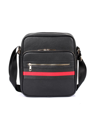 Men's Professional & Travel Flight Bag Black Red Stripe