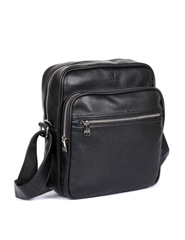 Men's Professional & Travel Crossbody Flight Bag Black
