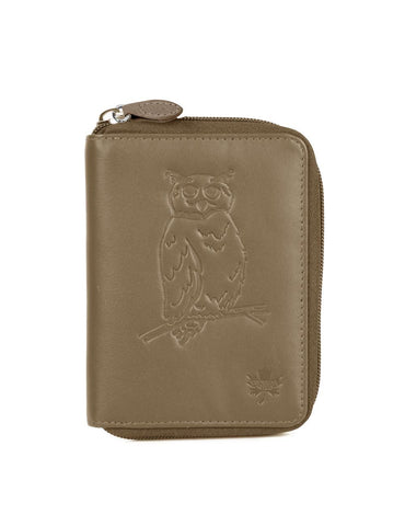 CANADA WILD  Women's Leather Wallet Owl