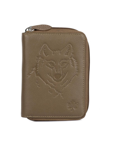CANADA WILD  Women's Leather Wallet Wolf