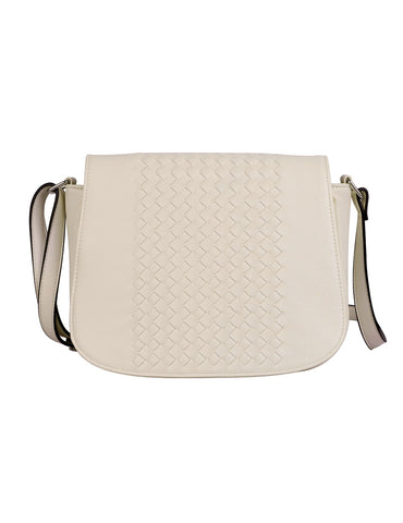 Tanya RFID Blocking Women's Crossbody Saddle Bag Beige