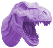 lavender-purple t rex dinosaur head trophy wall mount