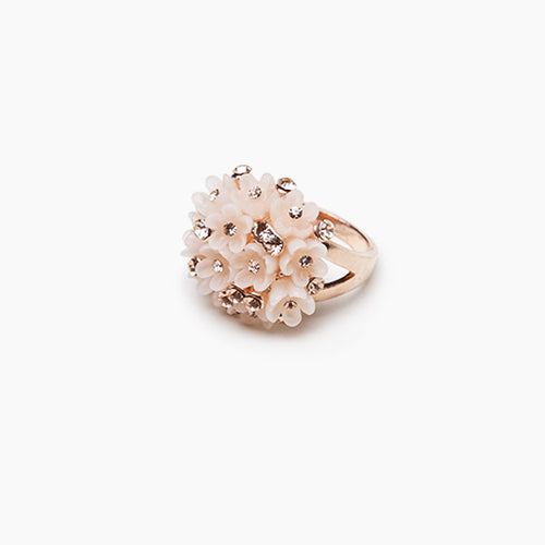Blossom Flower Ring Pink Gold