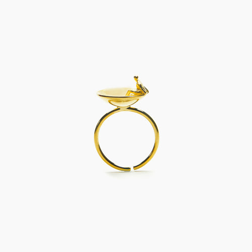 Yeah Jewelry - Silver Unique Human Figure Ring, 18K Gold Plated - Teel Yes