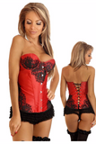 Elegant Red Lace Corset - PureDiva