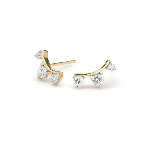 Meghan Markle favorite jewelry 3 diamond amigos earrings in gold