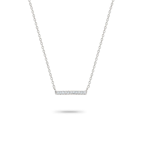 Pavé Bar Necklace