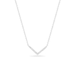 Tiny Pavé V Necklace