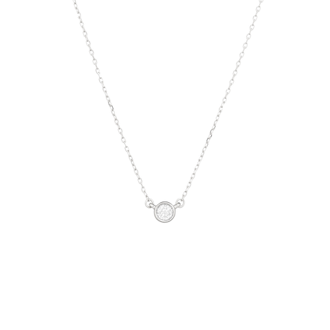 Single Diamond Necklace