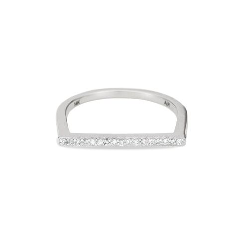 Pavé Flat Bar Ring