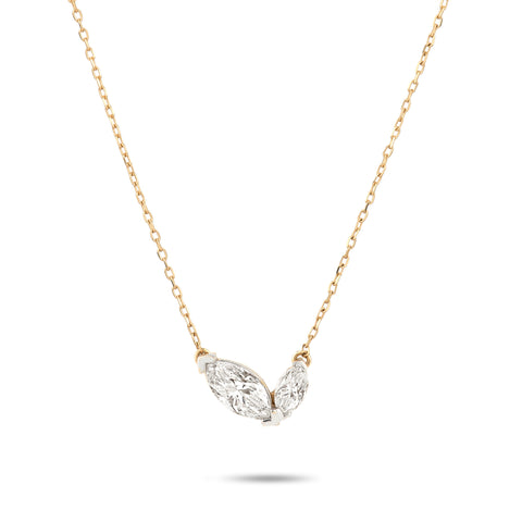 2 Marquise Necklace