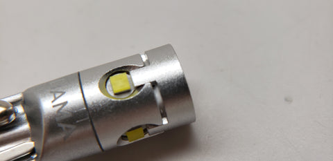 DAMA mini LED signal bulb showing the CSP chips