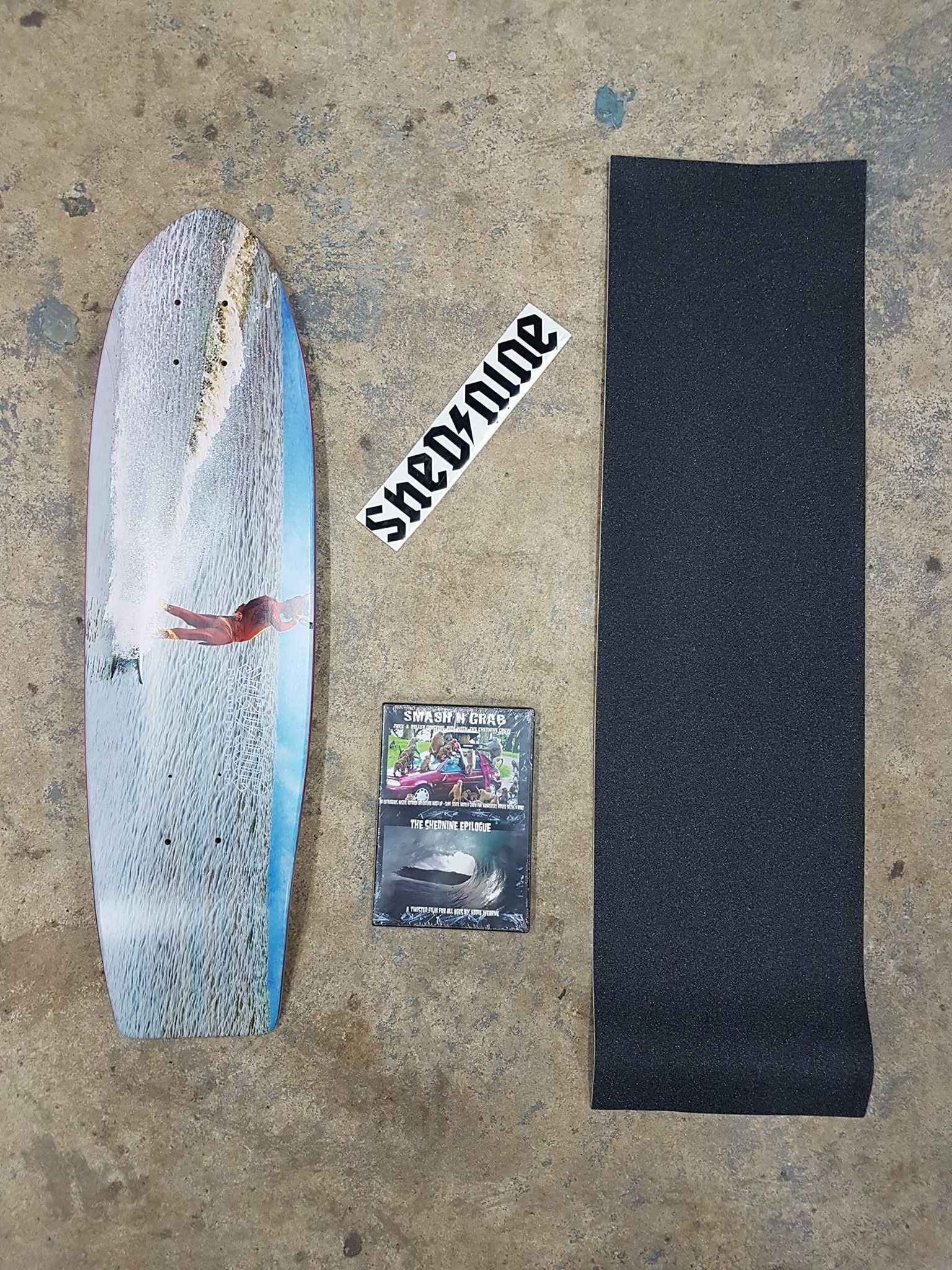 Frothalot Cruiser Deck, Grip, Dvd and Sticker -  Skateboard Deck, Shed Nine, Shed Nine