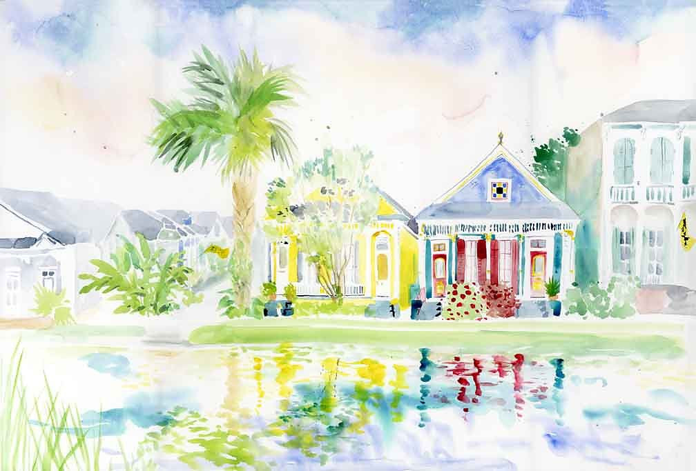 On the Bayou Watercolor Print