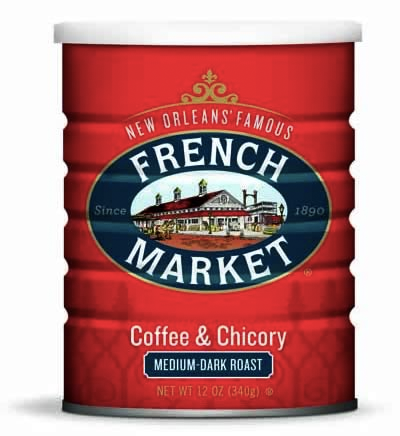 French Market Coffee Medium-Dark Roast Coffee & Chicory Can