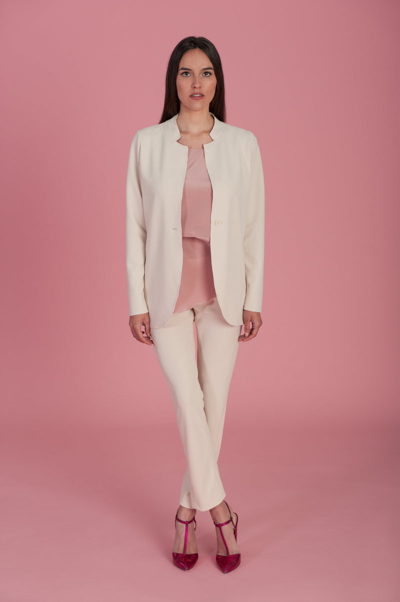 Laura Cream Blazer