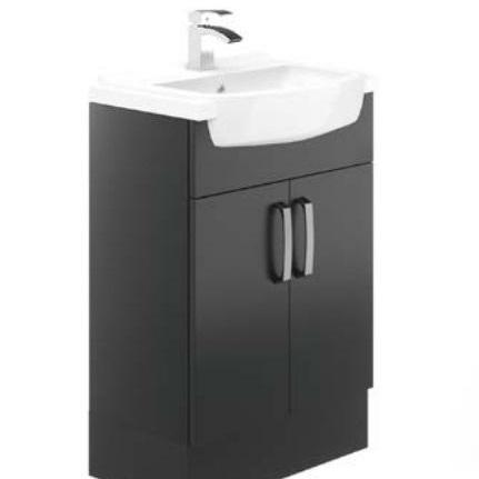 Avalon Graphite 600mm Basin Unit