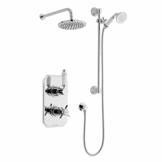 Klassique Thermostatic Shower Valve With Fixed Head & Riser Rail Kit