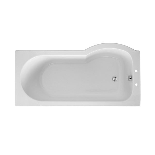 Selftitled P Shaped Shower Bath - 1495mm, 1675mm