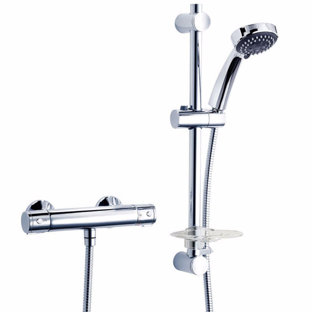 Dene Cool Touch Thermostatic Bar Mixer & Diverter
