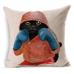 Lovely Cat Boxing Pillow Case