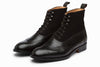 Balmoral Leather/Suede Combo Boots - Black