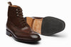 Balmoral Leather/Suede Combo Boots - Dark Brown