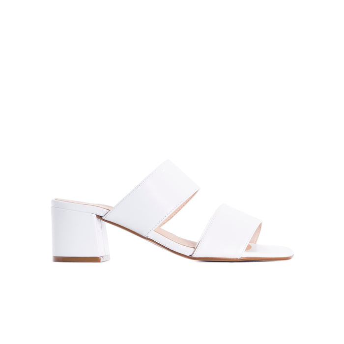 Aurora White Leather Sandals