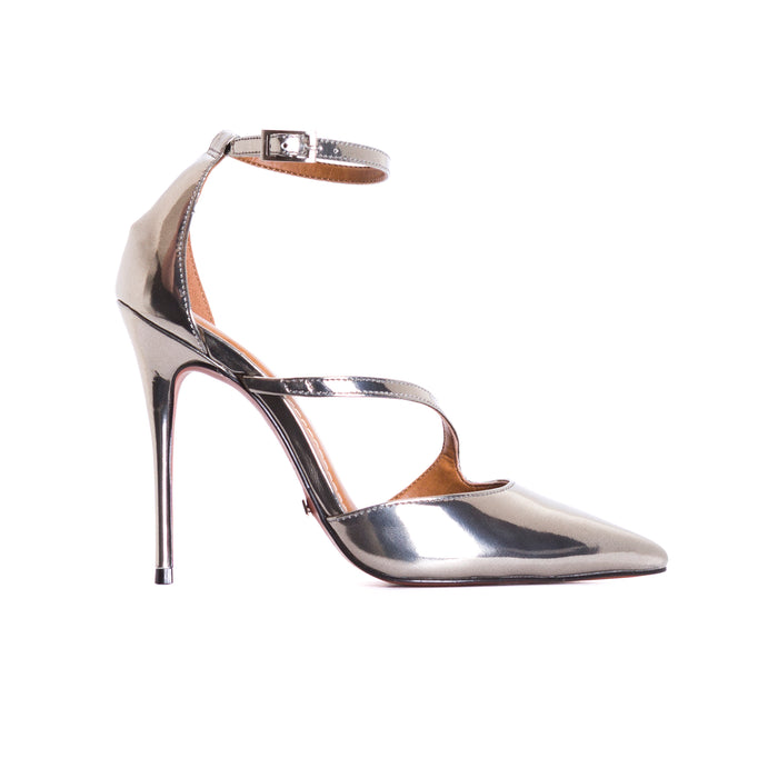 Lina Silver Leather Pumps